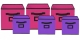 Kuber Industries Non Woven 6 Pieces Small & Large Foldable Storage Organiser Cubes/Boxes (Pink & Purple) - CTKTC35372