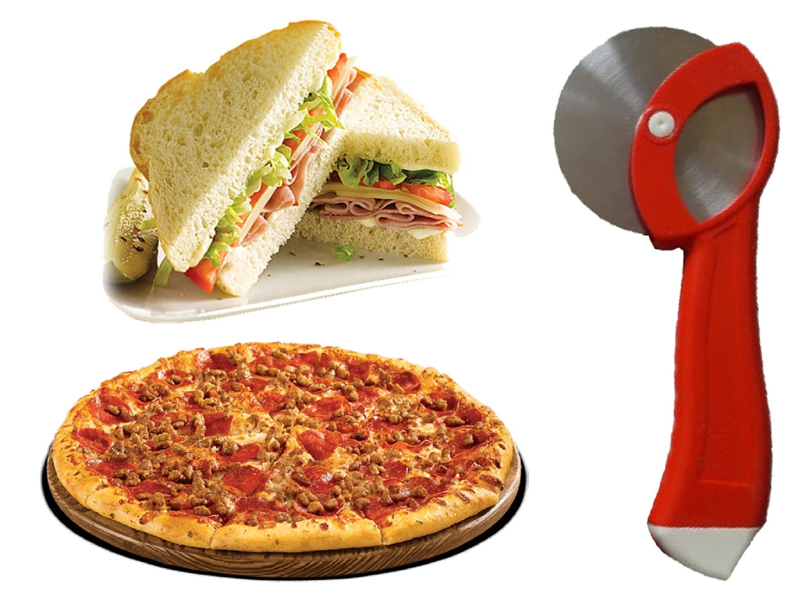 Kuber Industries™ Pizza/Sandwich/Burger/Slicer/Multipurpose Cutter set of 2 Pcs (Code-PZ17)