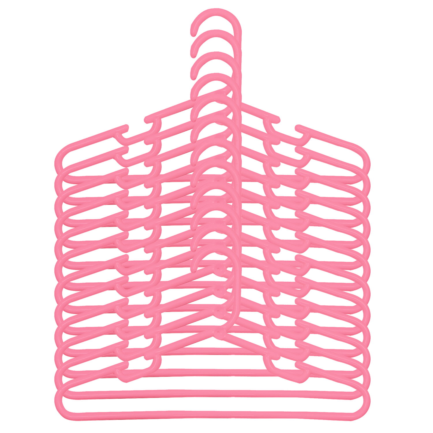 Kuber Industries Plastic 12 Pcs Baby Hanger Set for Wardrobe (Pink)-CTKTC21451