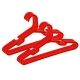 Kuber Industries Plastic 12 Pcs Baby Hanger Set for Wardrobe (Red)-CTKTC21442
