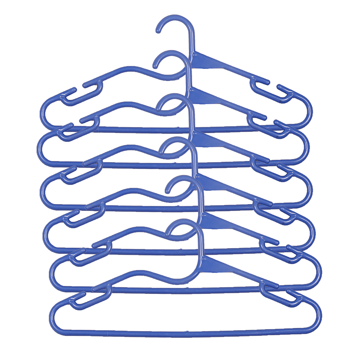 Kuber Industries Plastic 12 Pieces Hanger Set for wardrobe (Blue)