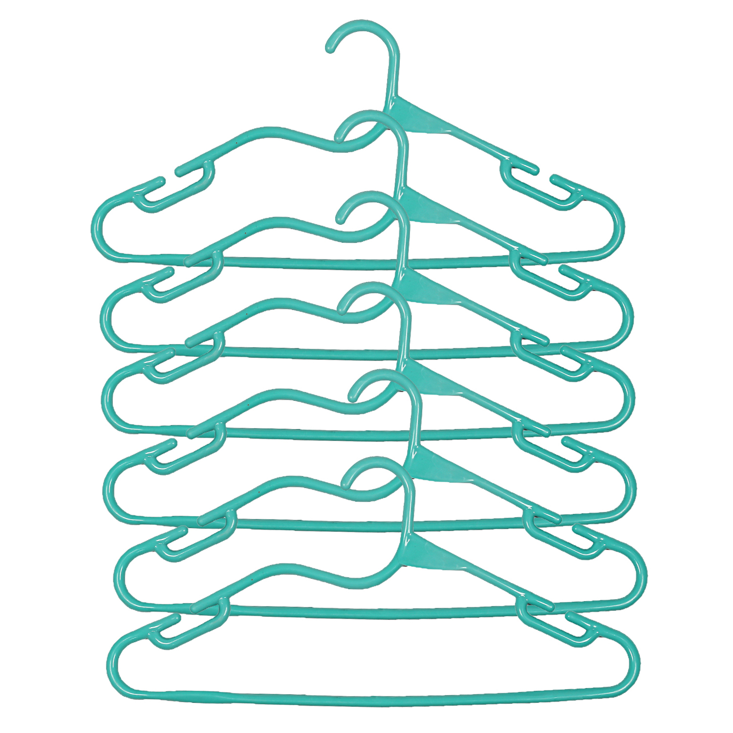 Kuber Industries Plastic 12 Pieces Hanger Set for wardrobe (Sea Green)
