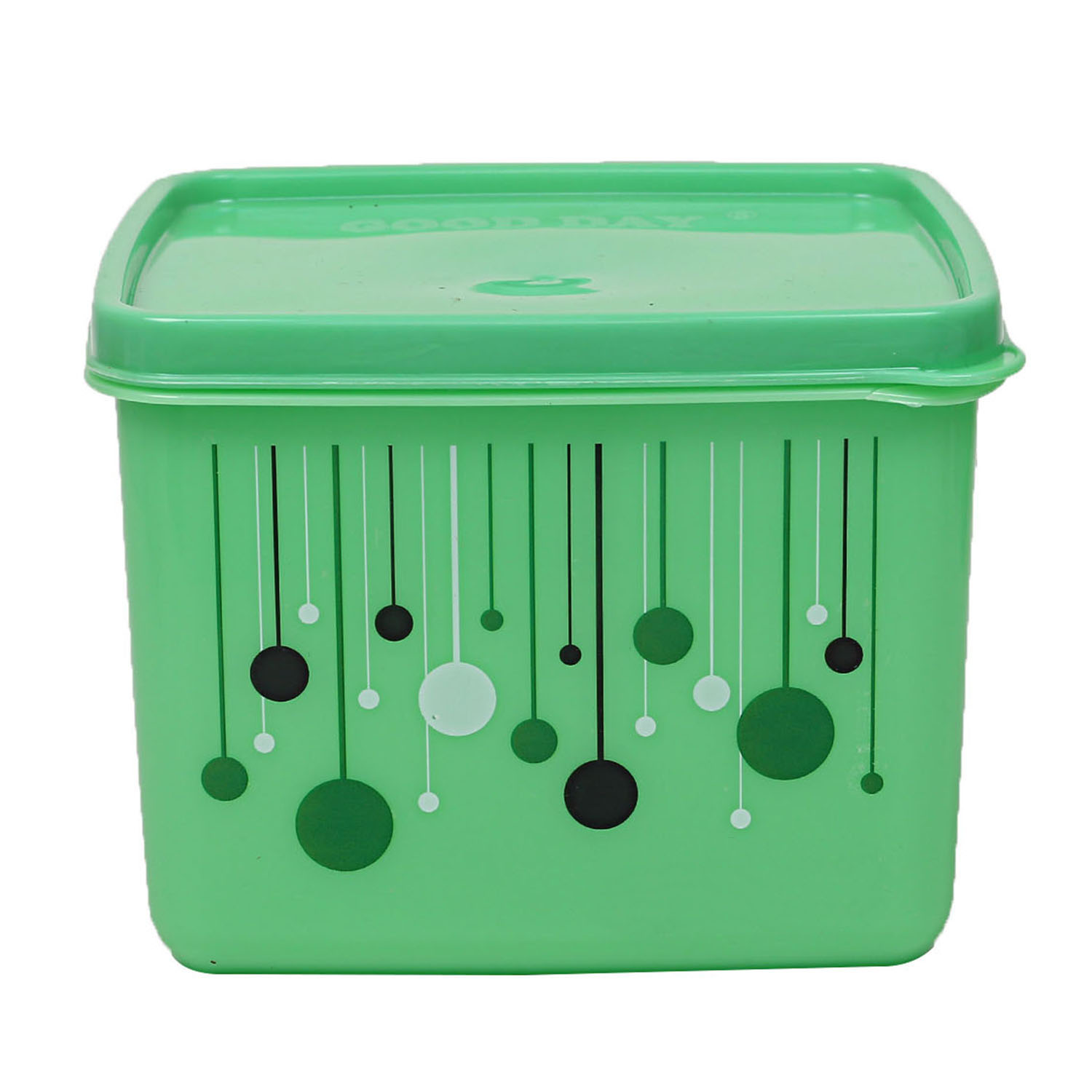 Kuber Industries Plastic 12 Pieces Multipurpose Storage Container Set 1000 ML (Green) - CTKTC23278