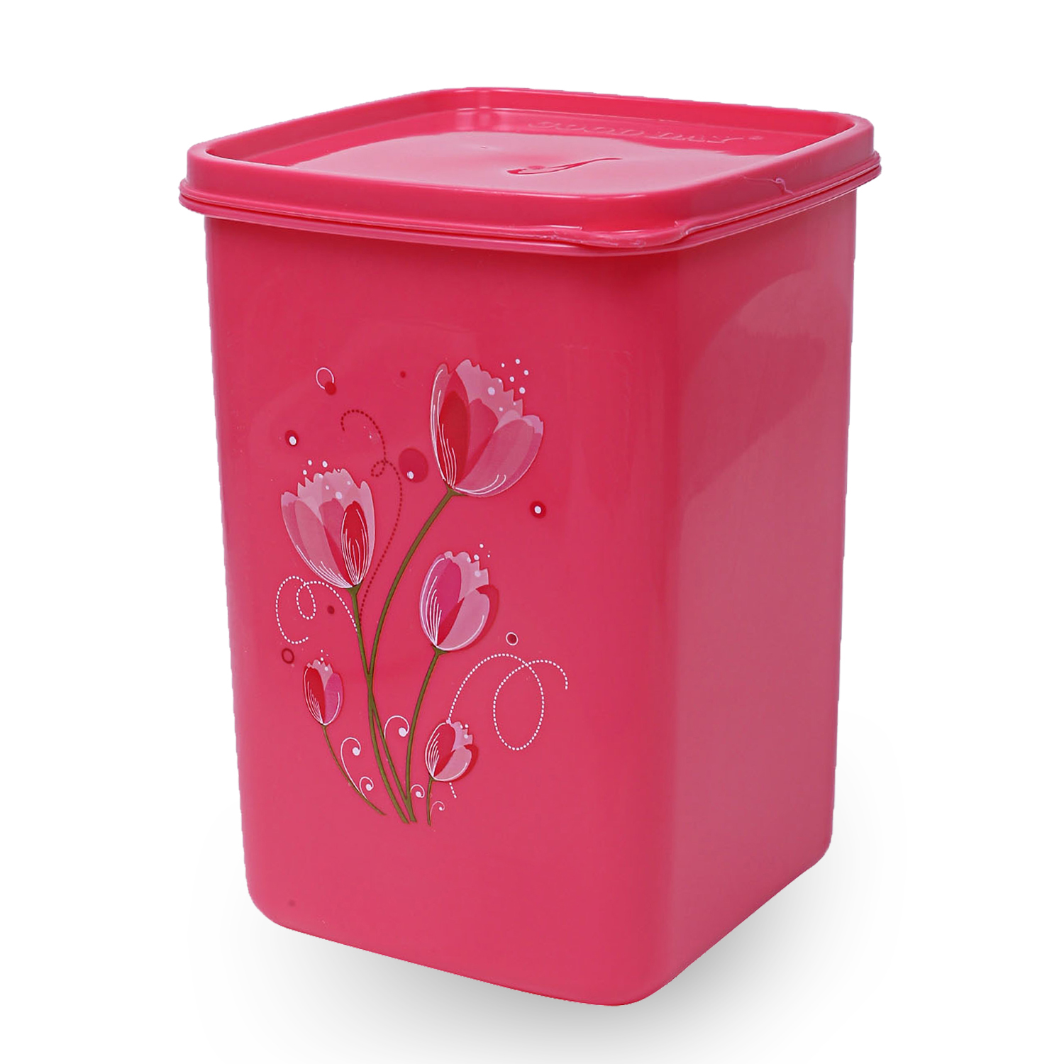 Kuber Industries Plastic 12 Pieces Multipurpose Storage Container Set 2000ml (Pink) - CTKTC23341