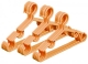 Kuber Industries Plastic 15 Pieces Baby Hanger Set for Wardrobe (Peach) -CTKTC39435