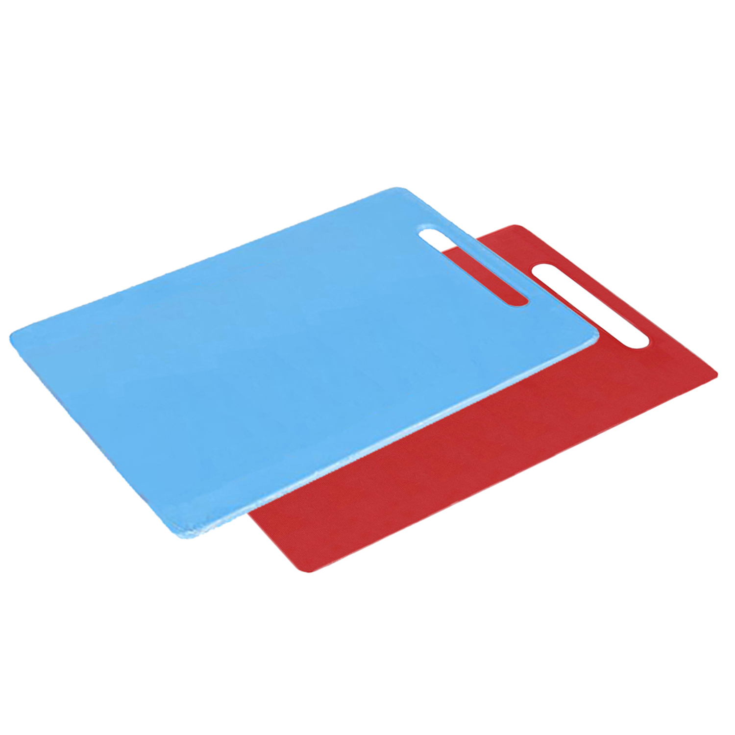 Kuber Industries Plastic 2 Pieces Chopping Cutting Board With Handle (Blue & Pink) -CTLTC11564