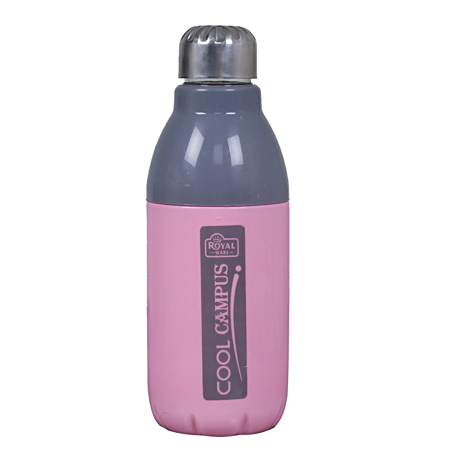 Kuber Industries Plastic 2 Pieces Insulated  Water Bottle 400 ML (Pink) -CTLTC11113