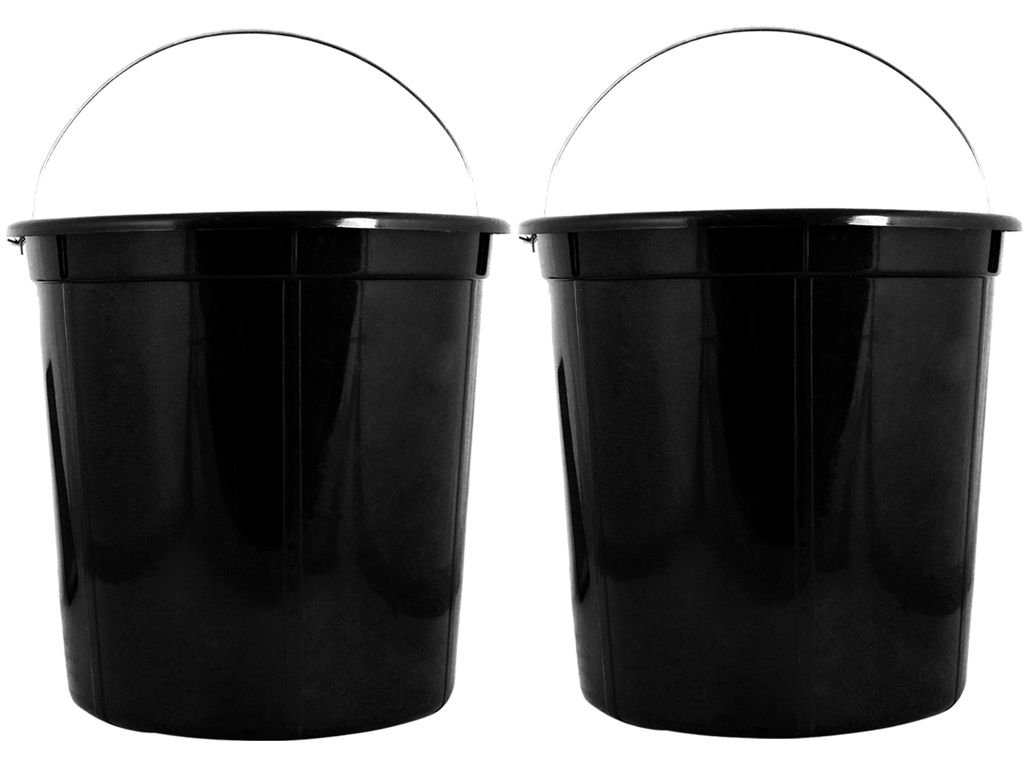 Kuber Industries Plastic 2 Pieces Removable Inner Dustbin Bucket,Paint, Recycle Bin Basket And Small Bucket,10 Liters (Black) -CTKTC38723