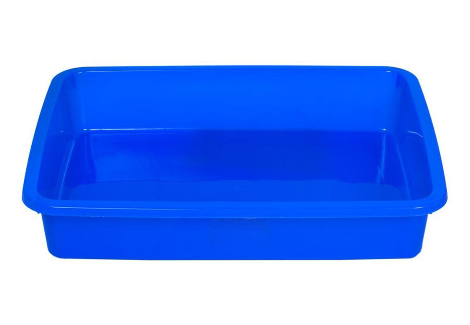 Kuber Industries Plastic 3 Pieces Medium Size Stationary Office Tray, File Tray, Document Tray, Paper Tray A4 Documents/Papers/Letters/folders Holder Desk Organizer (Blue)
