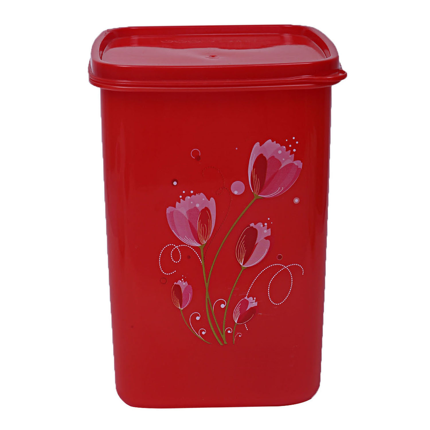 Kuber Industries Plastic 3 Pieces Multipurpose Storage Container Set 1000ml (Red) - CTKTC23365