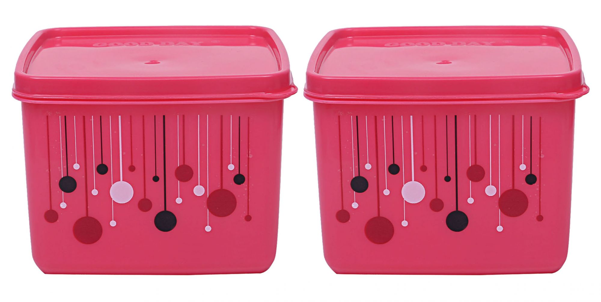Kuber Industries Plastic 6 Pieces Multipurpose Storage Container Set 1000 ML (Pink) - CTKTC23292