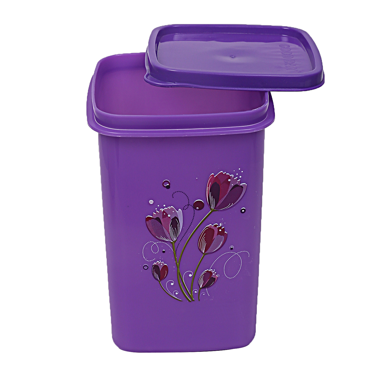 Kuber Industries Plastic 6 Pieces Multipurpose Storage Container Set 1000ml (Purple & Yellow) - CTKTC23398