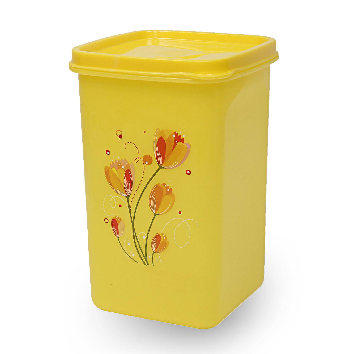 Kuber Industries Plastic 6 Pieces Multipurpose Storage Container Set 1000ml (Yellow) - CTKTC23392