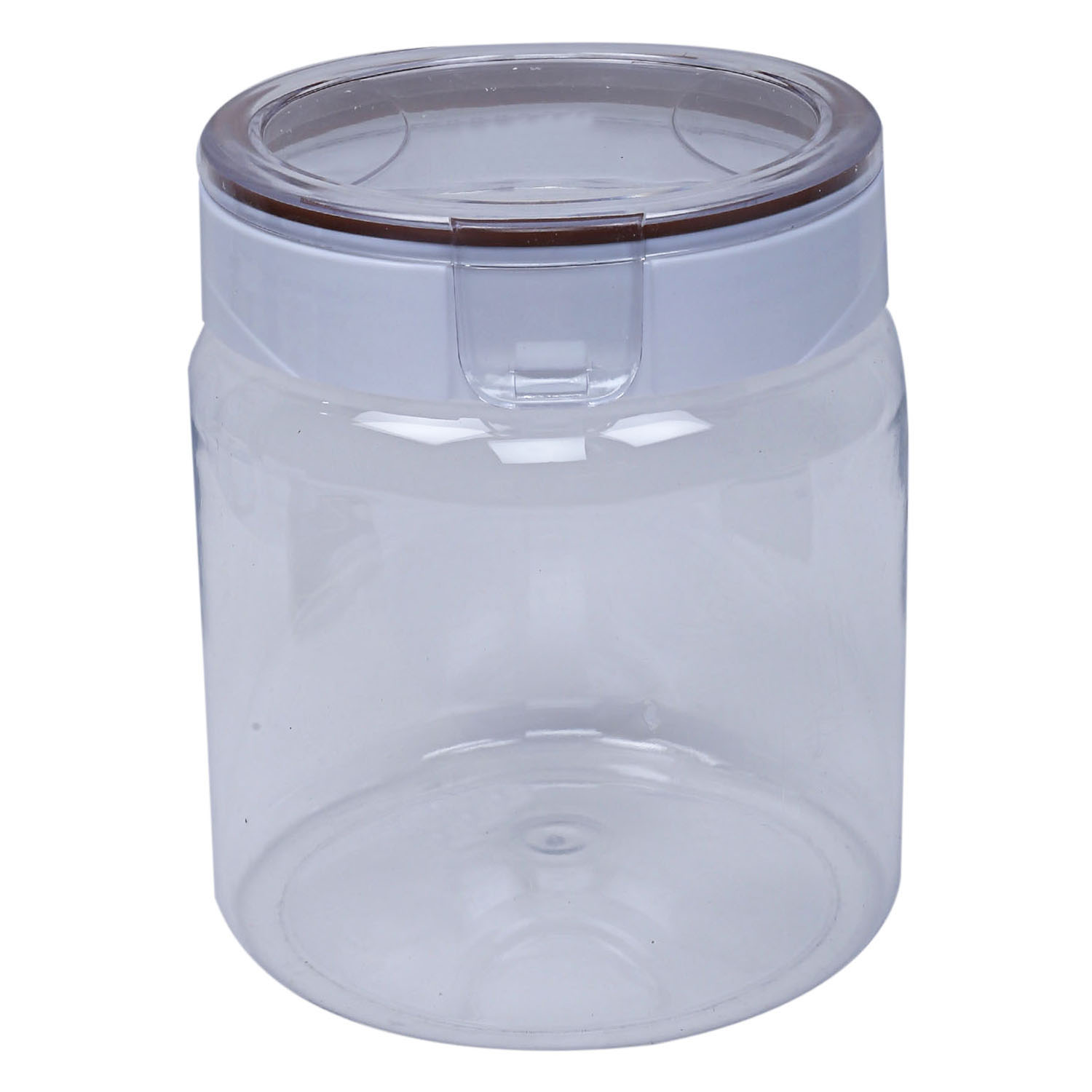 Kuber Industries Plastic Air Tight Lid 2 Pieces Multipurpose Storage Container Set 1700 ml (Transperant) - CTKTC23432