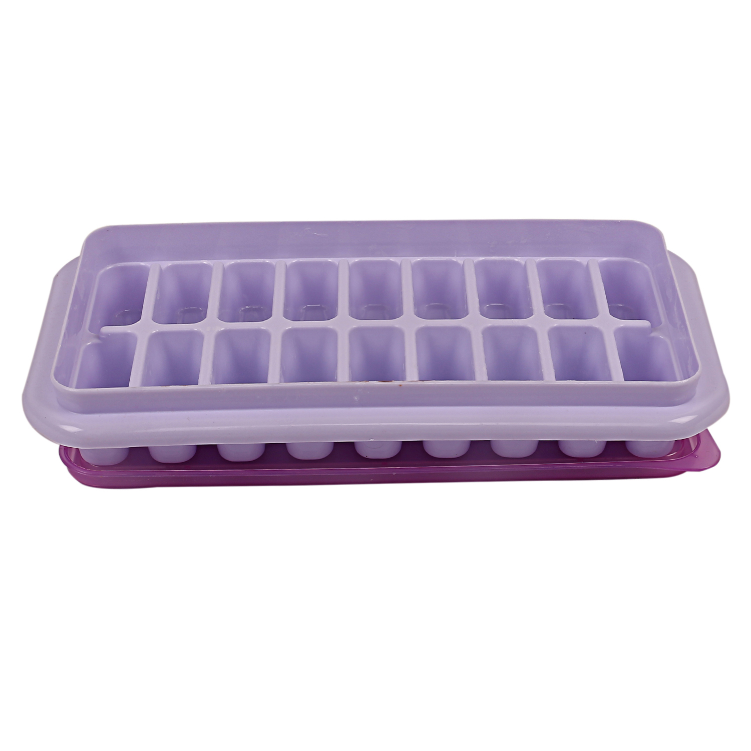 Kuber Industries Plastic BPA Free Reusable Ice Cube Trays with Removable Lid Set of 6, 18 Cubes -CTKTC6028