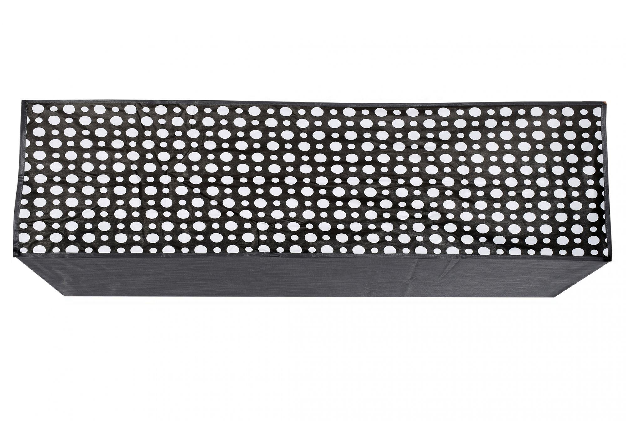 Kuber Industries Polka Dots Design PVC Air Conditioning Dust Cover Indoor and Outdoor Waterproof Folding Spilt Ac Cover Set for 1.5 Ton AC (Grey) - CTKTC40727