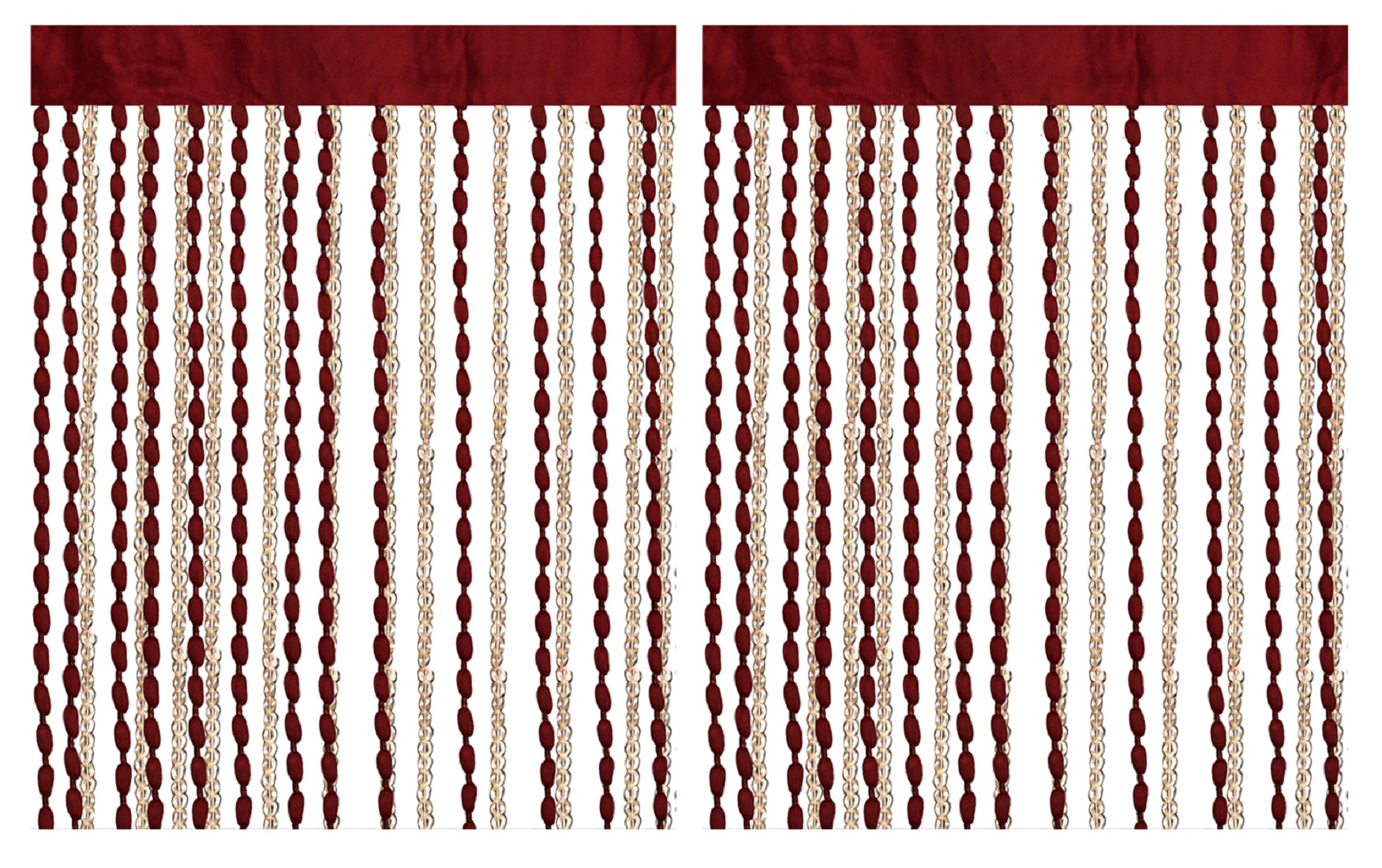 Kuber Industries Polyester 2 Pieces Decorative String Thread Room Door Curtain 7 Feet (Multi) -CTKTC13028