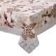 Kuber Industries PVC 6 Seater Dining Table Cover (Cream) -CTKTC8642