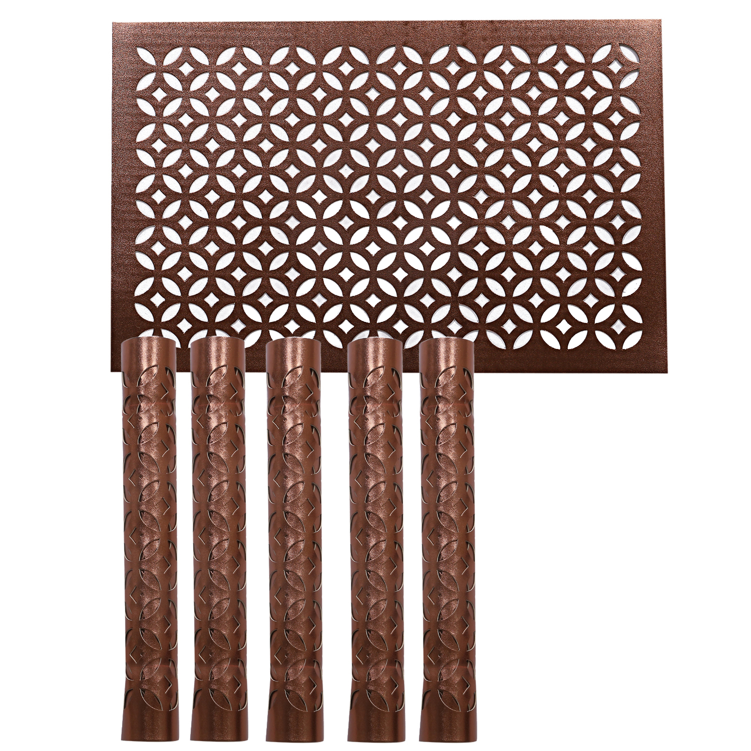 Kuber Industries PVC Soft leather 6 Pieces Dining Table Placemat Set (Copper) -CTLTC11342