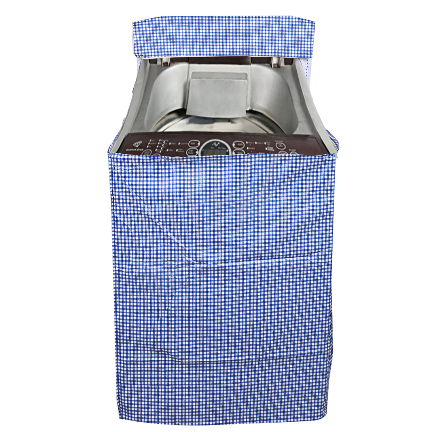 Kuber Industries PVC Top Load Fully Automatic Washing Machine Cover (Blue)