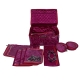 Kuber Industries Satin Locker Jewellery Kit with 12 Pouches (Pink)-CTKTC13446