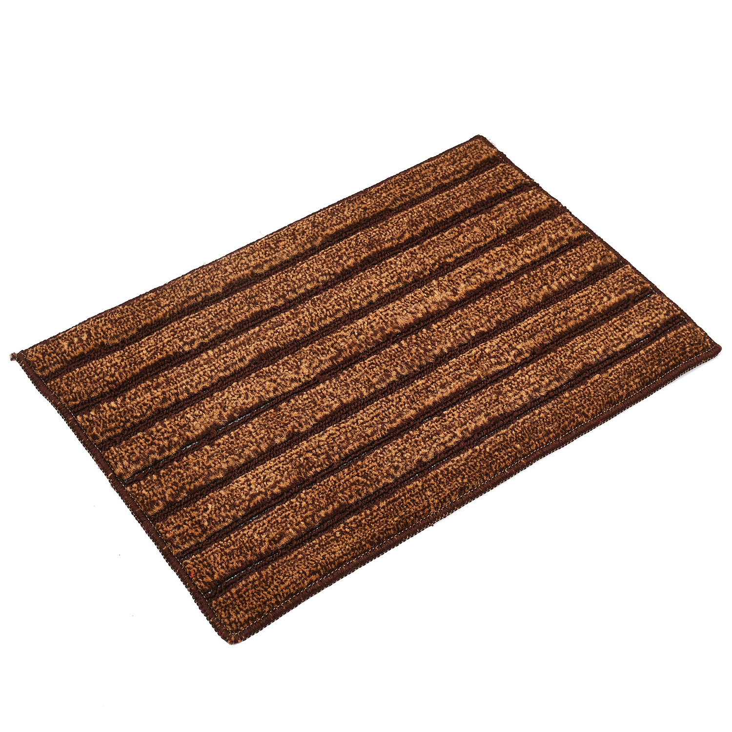 "Kuber Industries Soft Cotton Blend Anti Slip 3 Pieces Door Mat 16""x24""(Brown)"