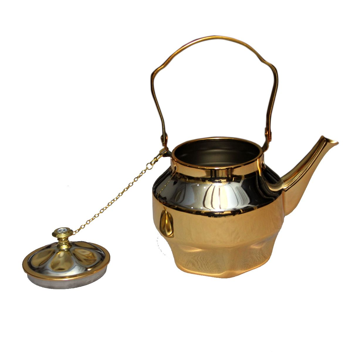 Kuber Industries™ Stainless steel Gold finish/Tea Pot/Serving Pot/ Gold Queen Tea Kettle (Big) Set of 1 Pc (FNT13)