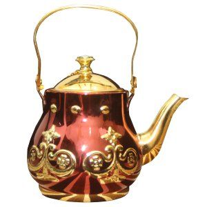 Kuber Industries™ Stainless steel Gold finish/Tea Pot/Serving Tea/Maharani Tea Kettle (Medium) Set of 1 Pc (FNT01)