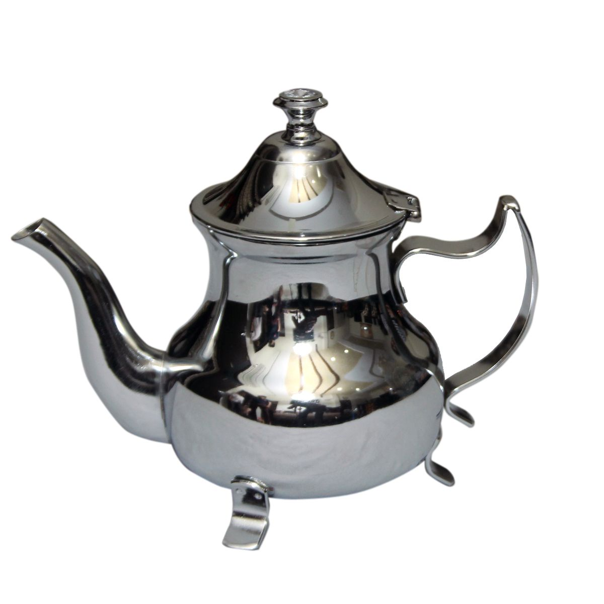 Kuber Industries™ Stainless steel Silver finish/Tea Pot/Serving Pot/ Charminar Tea Kettle (Big) Set of 1 Pc (FNT17)