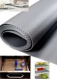 Kuber Industries™ Textured Anti Slip EVA Mat, Drawer, Self Liner, Cupboard Underlay Liner, Fridge mat (Grey) 45*150 Cm Set of 1 Roll (Code-ANS05)