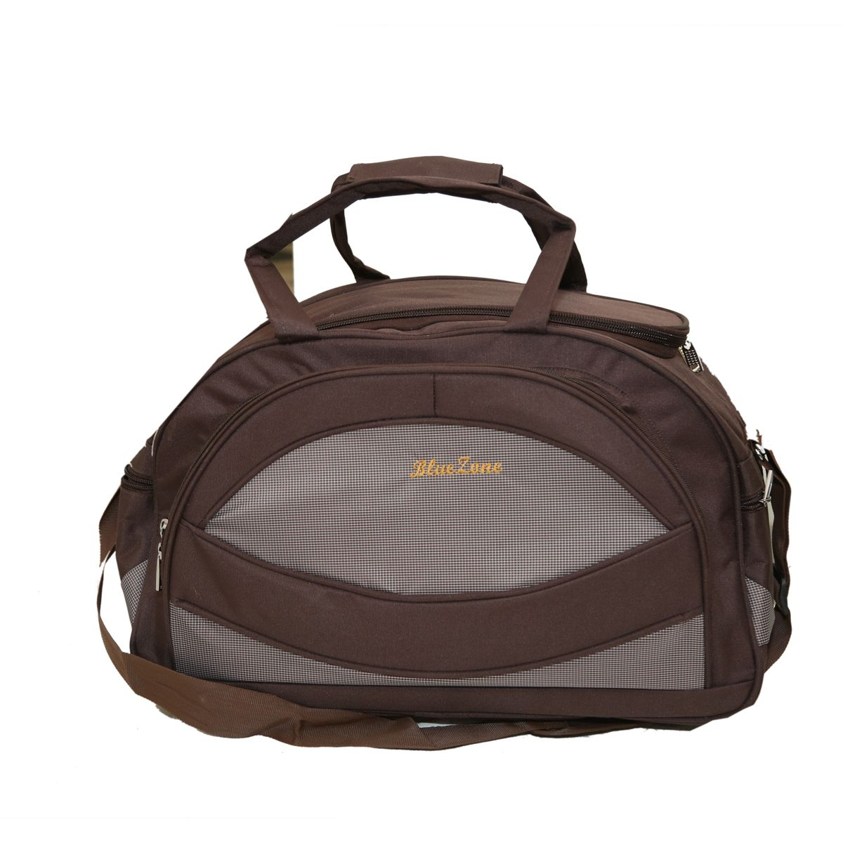 Kuber Industries™ Travel Duffle Bag,Luggage Bag,Shoulder Bag,Carry Bag with Inner Pocket- Brown (DUFFB07)