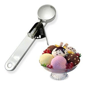 Kuber Industries™ Unbreakable Plastic Spring/Trigger Ice Cream Scoop Set of 1 Pc (CODE-ICSC07)