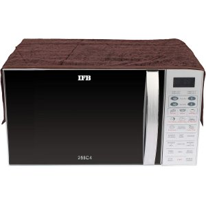 Kuber Industries Velvet 1 Pcs Microwave Oven Top Cover (Brown)-CTKTC3345