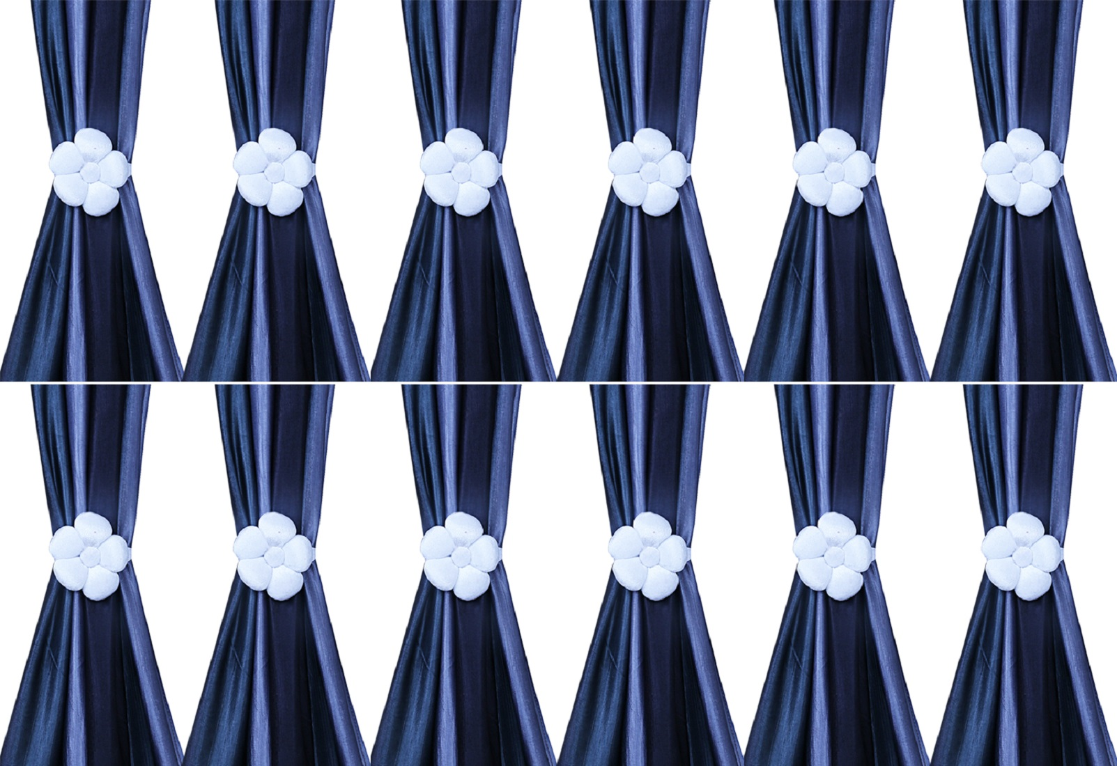 Kuber Industries Velvet 12 Pieces Curtain Tie Back Tassel