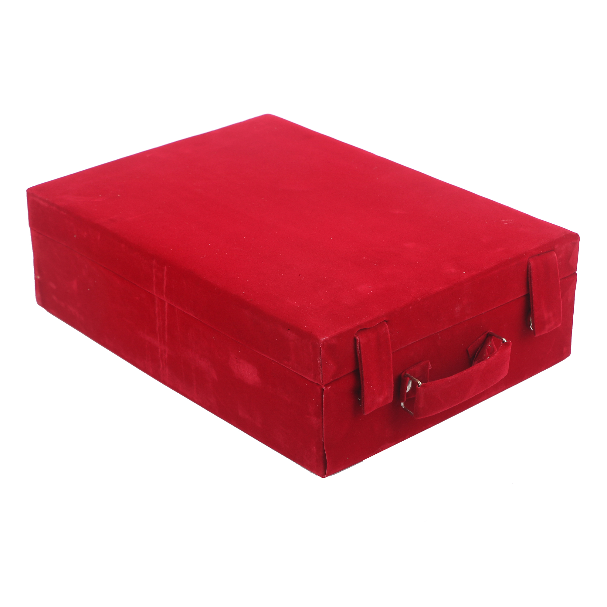 Kuber Industries Wooden 2 Piece Four Rod Velvet Bangle Storage Box  (Maroon) - CTKTC22742