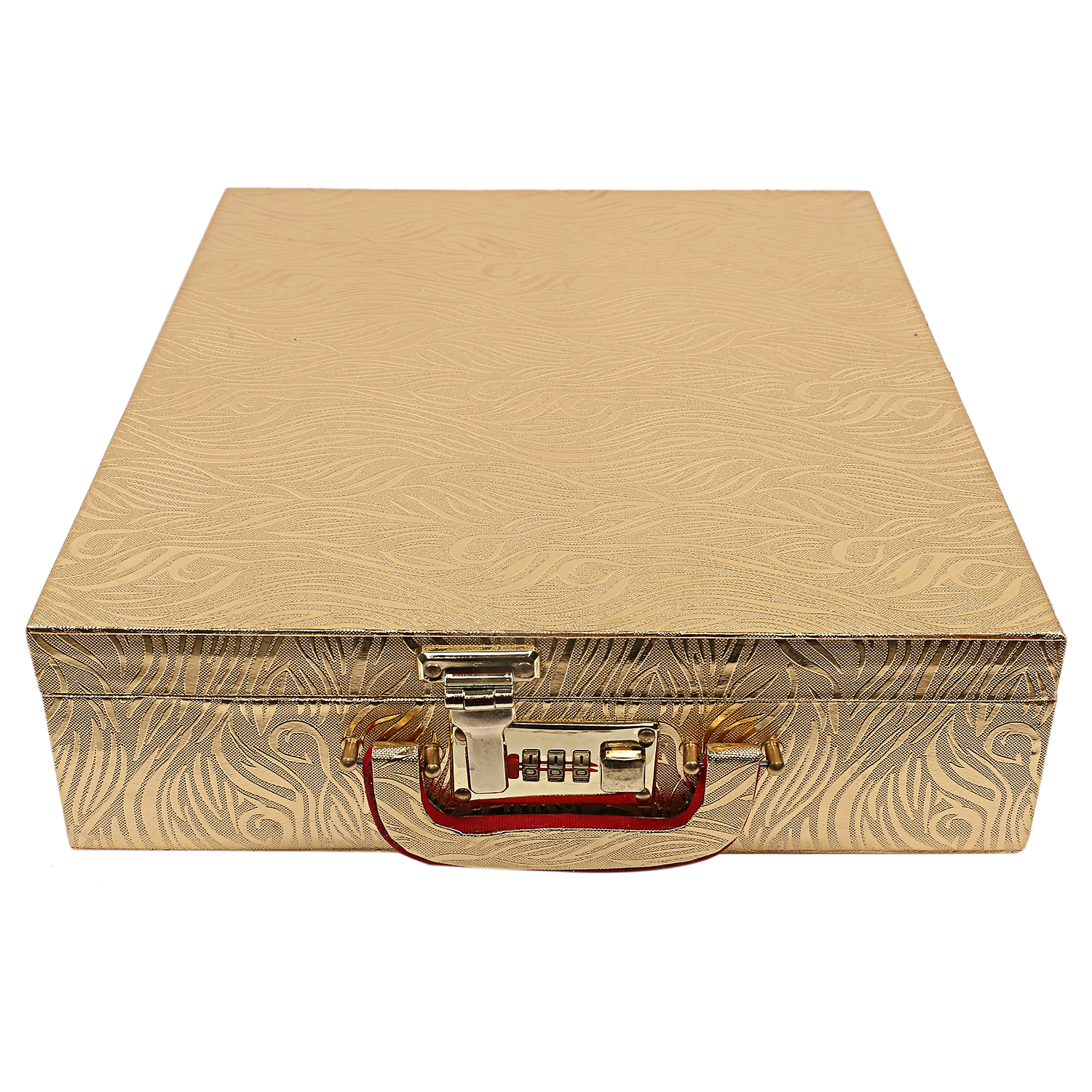 Kuber Industries Wooden 2 Pieces Five Rod Bangle Storage Box (Gold) -CTKTC8679