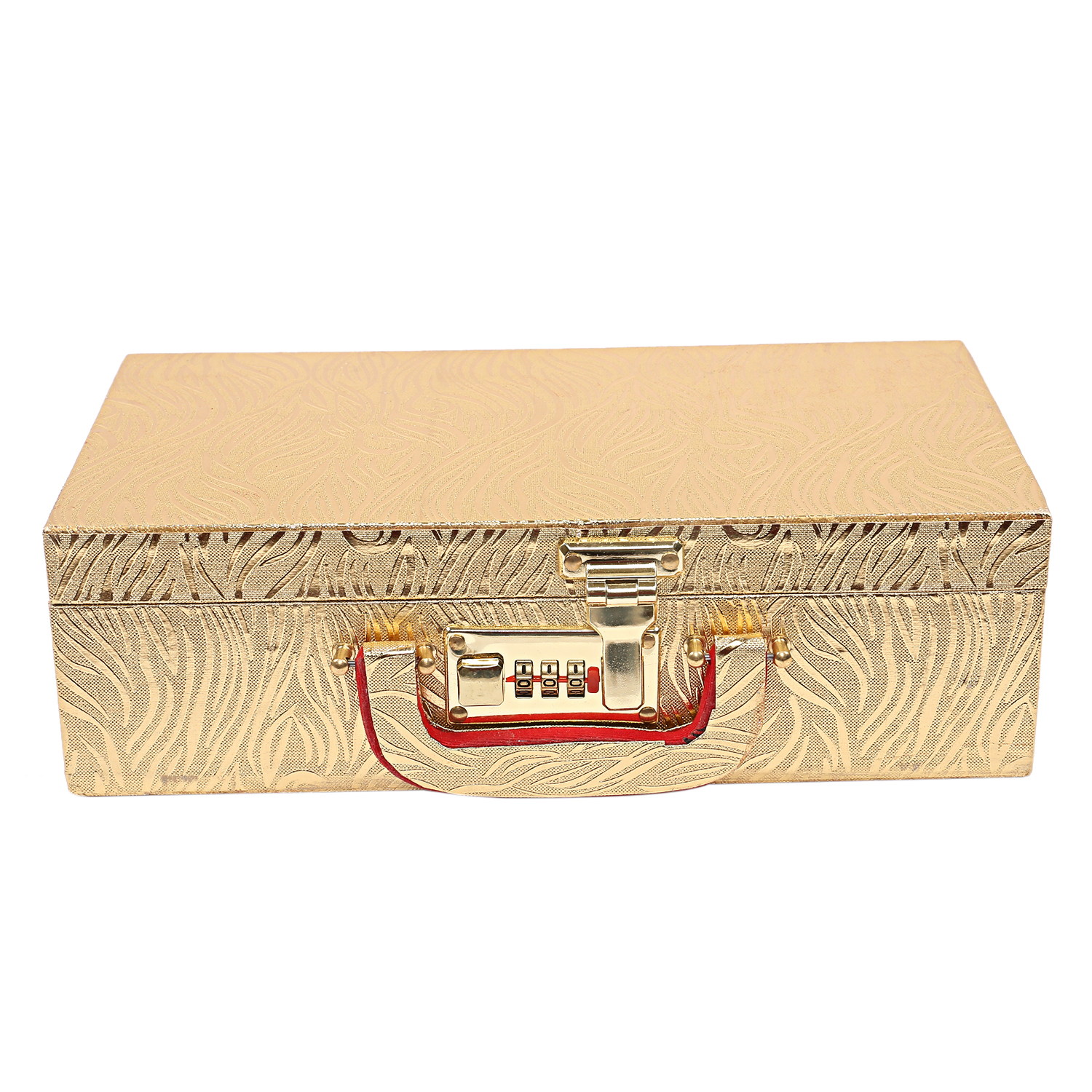Kuber Industries Wooden 2 Pieces Two Rod Bangle Storage Box (Gold) -CTKTC8694