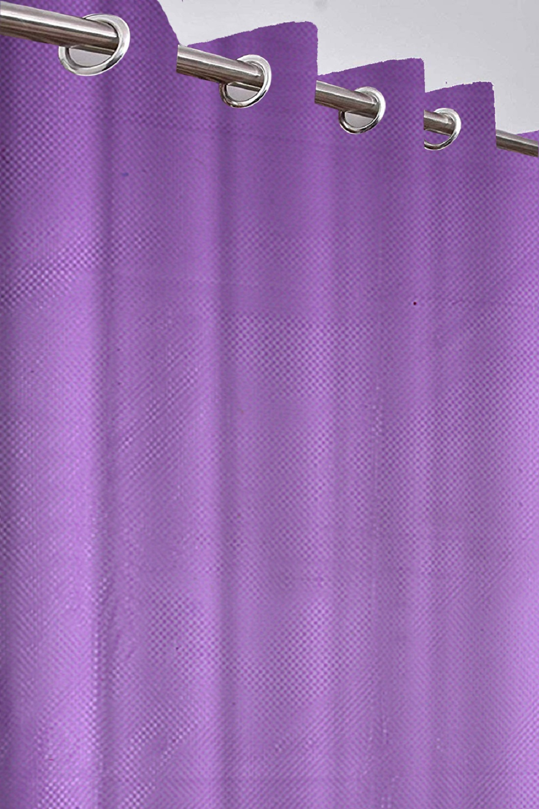 Kuber Industries Zig Zag Design 2 Pieces Sheer Door Curtains Linen Look Semi Transparent Voile Grommet Elegance Curtains for Living Dining Room, Bedroom Drapes 48 x 84 Inch Long, (Purple) - CTKTC40463