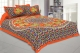 Kuber Industries Cotton 144 TC Double Bedsheet With 2 Pillow Cover (Orange)