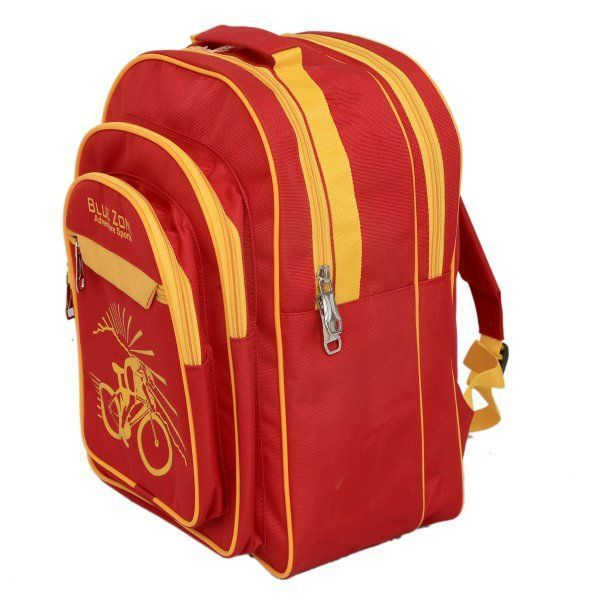 Kuber Industries Kids School Red Bag Bagpack (5-8 years age) - KI9121