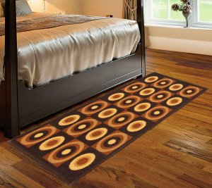 Kuber Industries Cotton Bed Side Runner (Brown) set of 1 Pc