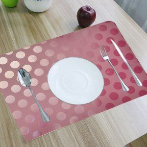 Kuber Industries™ Place Mats Set of 6 Pcs In Coin Desing (Pink) (FRDM26)