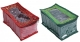 Kuber Industries Cotton 2 Pieces 10 Pouch Jewellery Box (Maroon & Green) -CTKTC5342