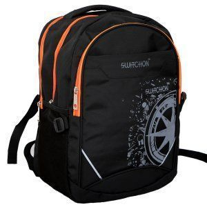Kuber Industries Stylish 30 Ltrs School Bag Backpack (Black) - KI9026