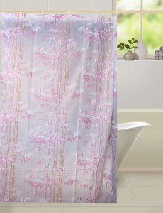 Kuber Industries™ Floral Design PVC Premium Shower Curtain - 7 Feet -84*54 Inches- 8 Hooks SHW14
