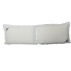 "Kuber Industriesâ""¢ Embroided Premium Cotton Pillow Cover with Frill Flange,Set of 2 - White - KU103"