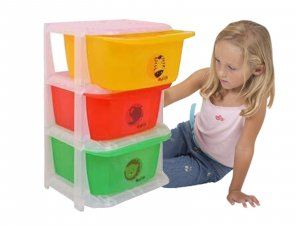 Kuber Industries™ Storage Drawers Basket for Kitchen/Office/Children/Toy With 3 Drawer in Moduler Design (Multiple usages) Basket002