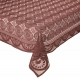 Kuber Industries Circle Design Cotton 6 Seater Dining Table Cover (Brown)-CTKTC32650