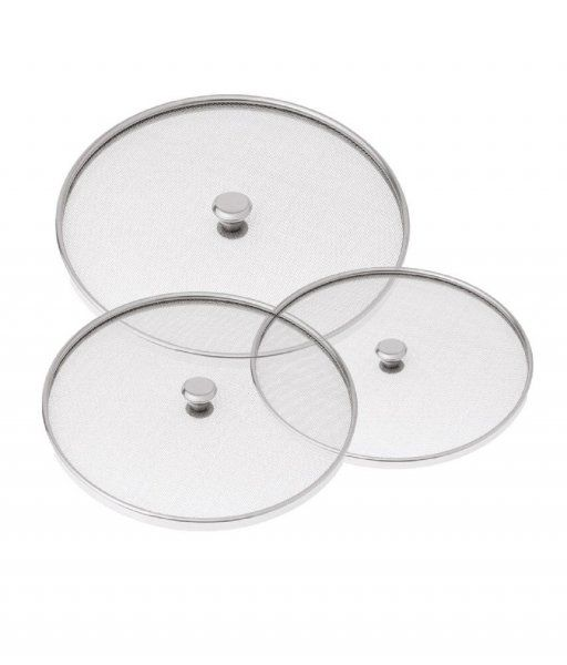 Kuber Industries™ Stainless Steel Food Cover/Milk cover Jali/Steel Jali/Multipurpose Net Lid Set of 3 Pcs (10 & 11 &12 Inches) Code-Net37