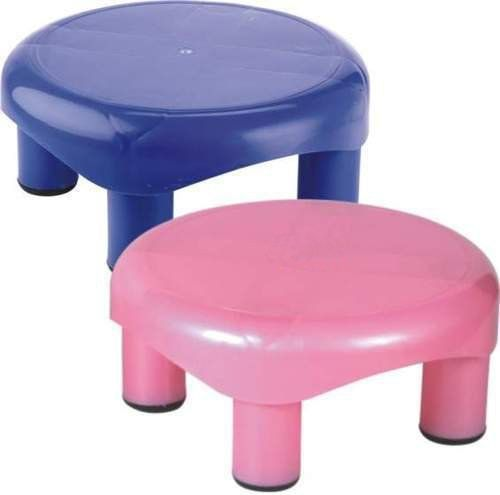 Kuber Industries Plastic Oval Bathroom Patla/Stool (Assorted) Set of 2 Pcs